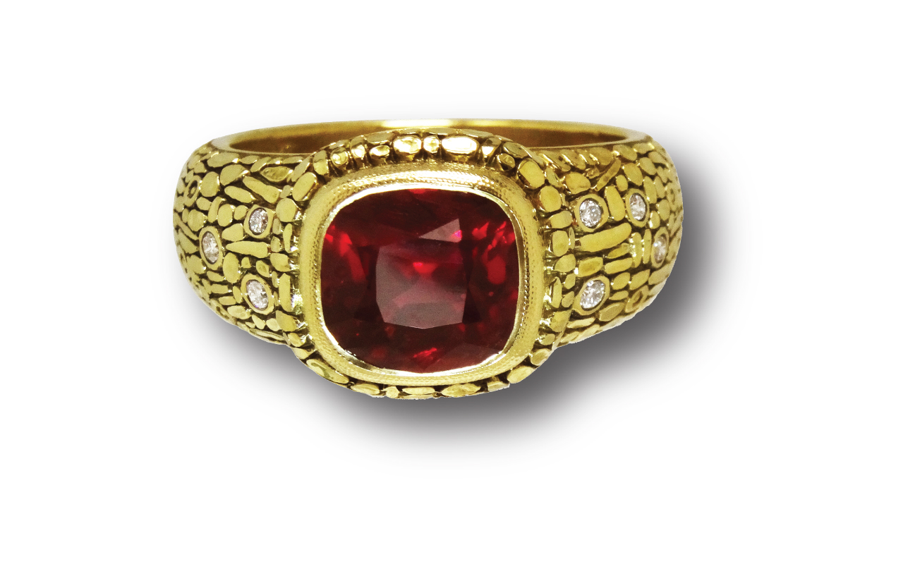 web african ruby ring