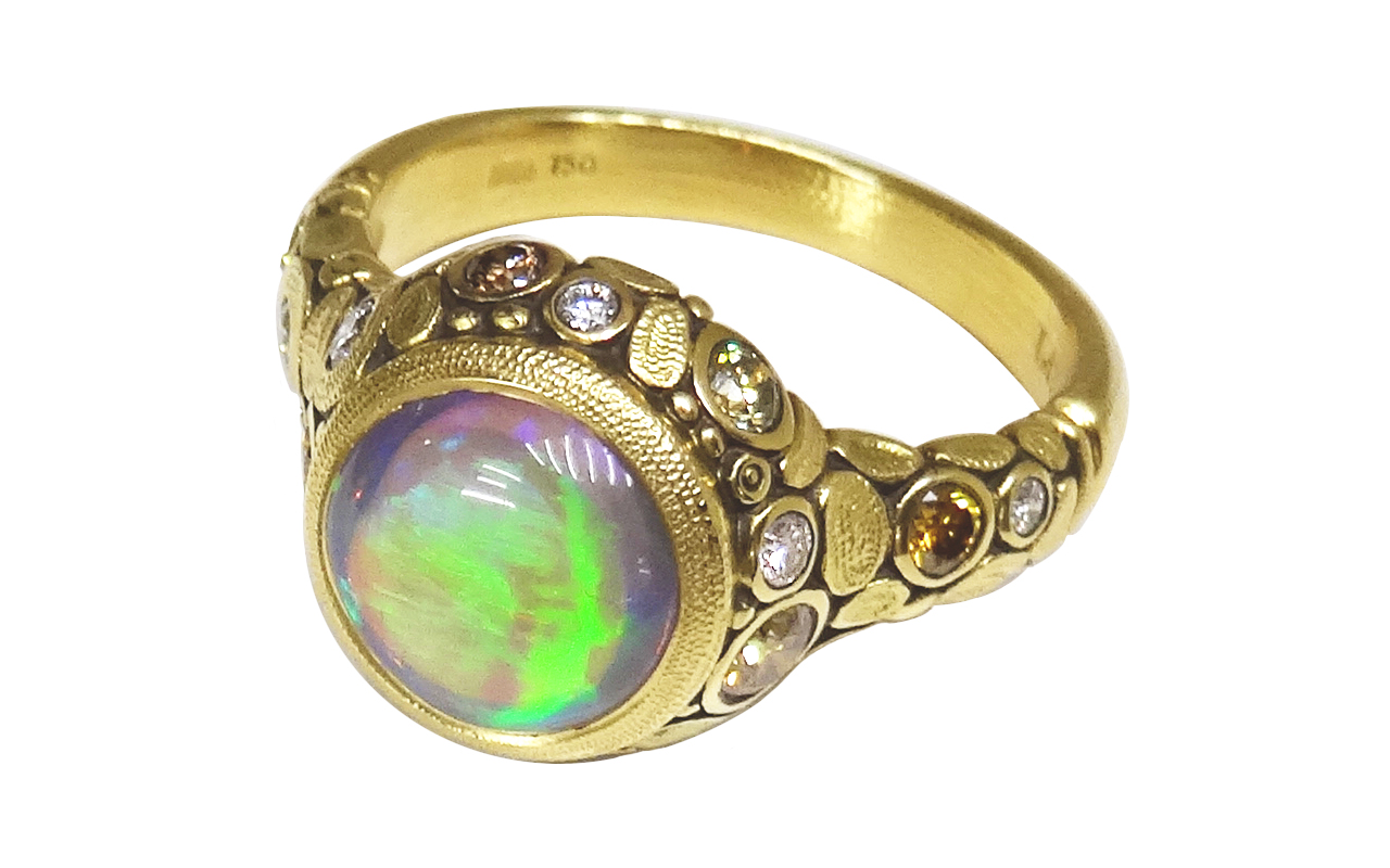 web green flash opal ring