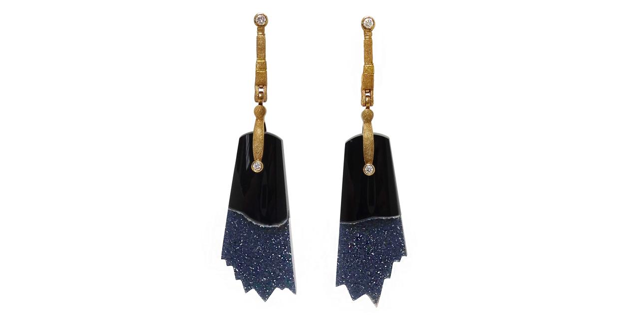 web S&S geode slice earrings