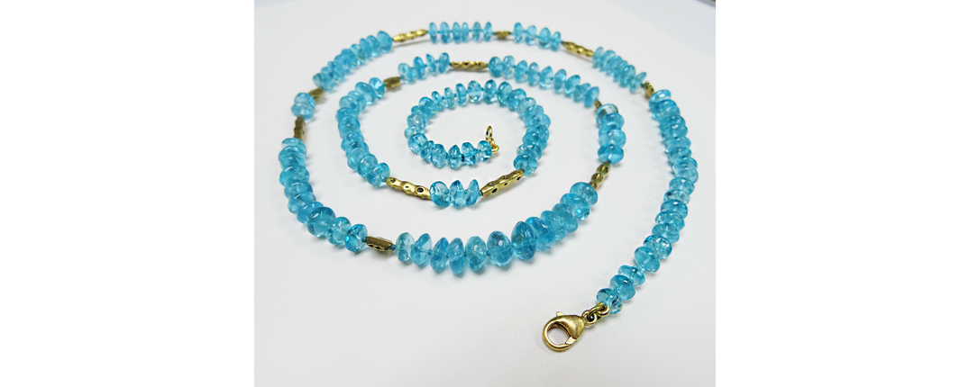 web apatite and flora bead necklace
