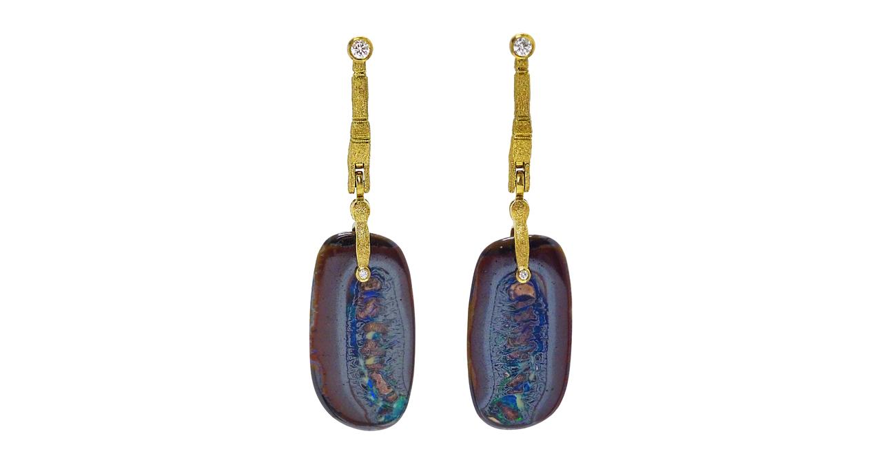 web nut split s&s earrings