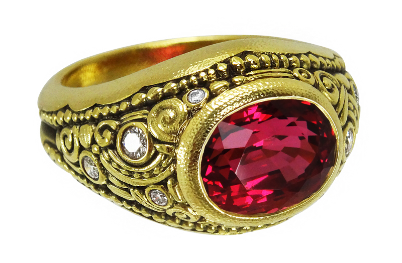 red spinel Sepkus ring